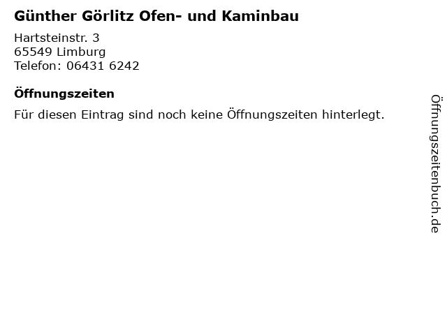 Günther Görlitz Ofen- und Kaminbau in Limburg: Adresse und Öffnungszeiten