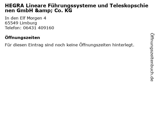HEGRA Lineare Führungssysteme und Teleskopschienen GmbH & Co. KG in Limburg: Adresse und Öffnungszeiten