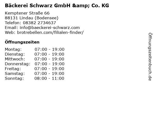 Bäckerei Schwarz GmbH & Co. KG in Lindau (Bodensee): Adresse und Öffnungszeiten