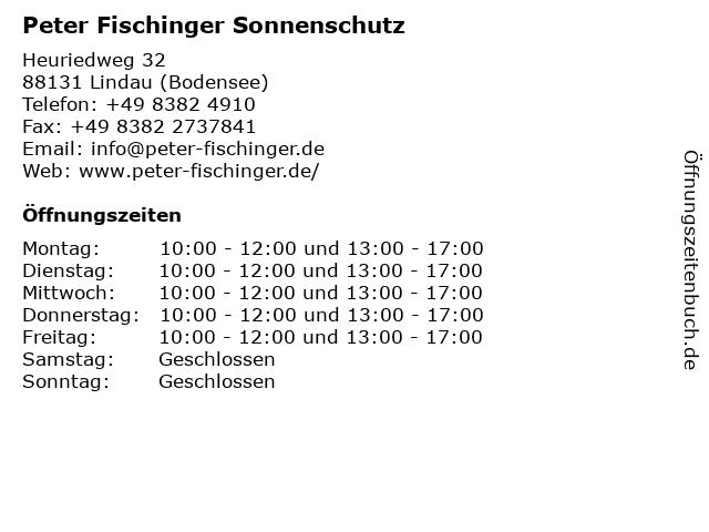 Fischinger Sonnenschutz Lindau in Lindau: Adresse und Öffnungszeiten