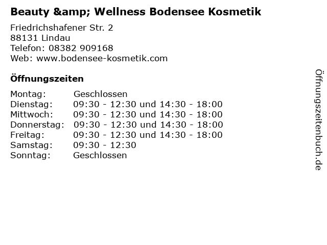 Beauty & Wellness Bodensee Kosmetik in Lindau: Adresse und Öffnungszeiten