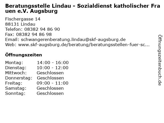 Beratungsstelle Lindau - Sozialdienst katholischer Frauen e.V. Augsburg in Lindau: Adresse und Öffnungszeiten