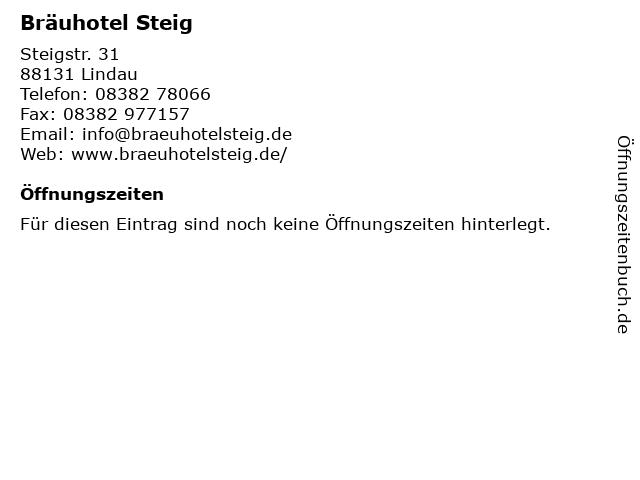 Bräuhotel Steig in Lindau: Adresse und Öffnungszeiten
