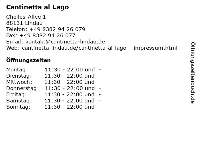 Cantinetta al Lago in Lindau: Adresse und Öffnungszeiten