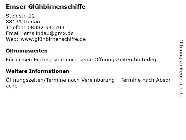 Emser Glühbirnenschiffe in Lindau: Adresse und Öffnungszeiten