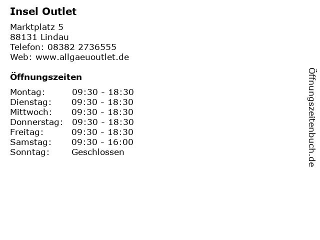 Insel Outlet in Lindau: Adresse und Öffnungszeiten