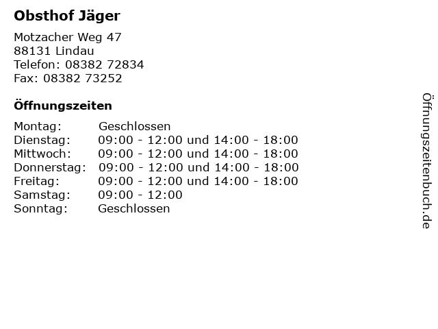 Obsthof Jäger in Lindau: Adresse und Öffnungszeiten