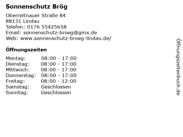 Sonnenschutz Brög in Lindau: Adresse und Öffnungszeiten