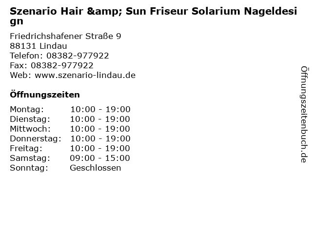 ᐅ Offnungszeiten Szenario Hair Sun Friseur Solarium Nageldesign
