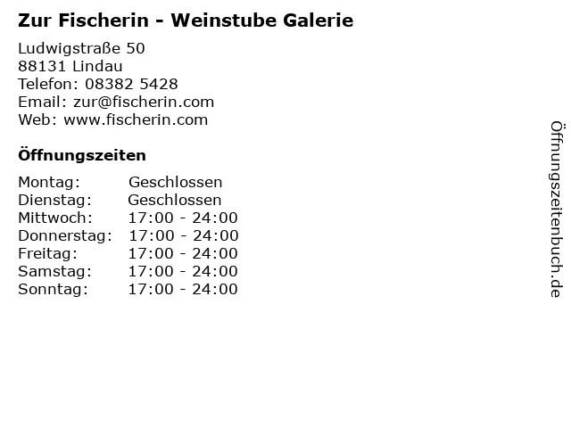 Zur Fischerin - Weinstube Galerie in Lindau: Adresse und Öffnungszeiten