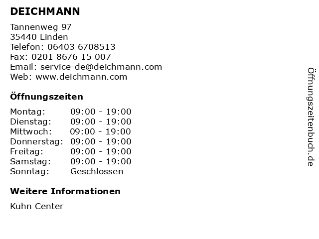 DEICHMANN in Linden: Adresse und Öffnungszeiten