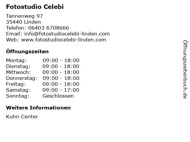 Fotostudio Celebi in Linden: Adresse und Öffnungszeiten