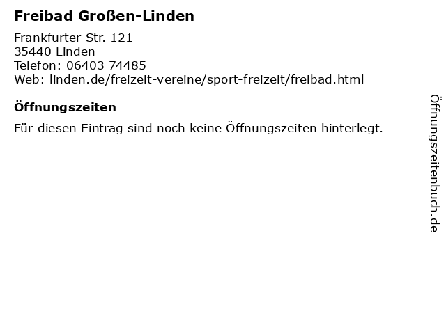 Freibad Großen-Linden in Linden: Adresse und Öffnungszeiten