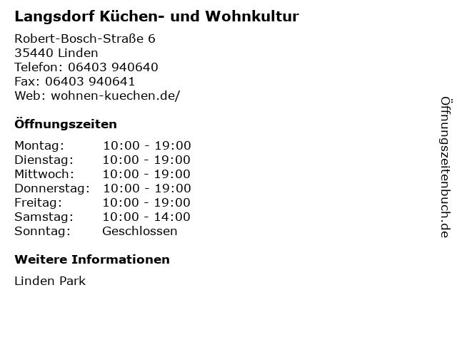 Langsdorf Küchen- und Wohnkultur in Linden: Adresse und Öffnungszeiten