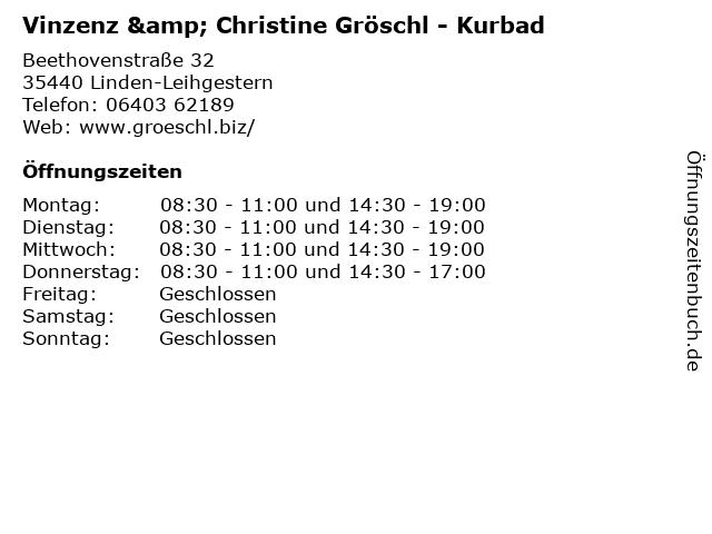 Vinzenz & Christine Gröschl - Kurbad in Linden-Leihgestern: Adresse und Öffnungszeiten