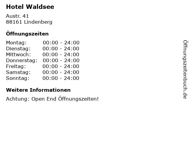 Hotel Waldsee in Lindenberg: Adresse und Öffnungszeiten