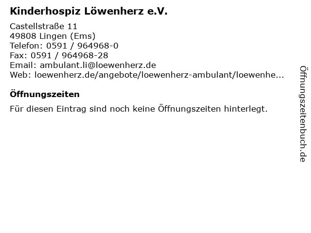 Kinderhospiz Löwenherz e.V. in Lingen (Ems): Adresse und Öffnungszeiten