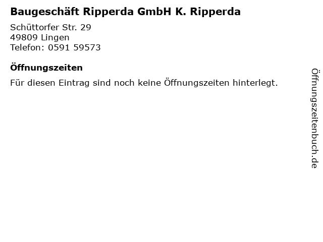 Baugeschäft Ripperda GmbH K. Ripperda in Lingen: Adresse und Öffnungszeiten