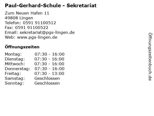 Paul gerhardt schule lingen