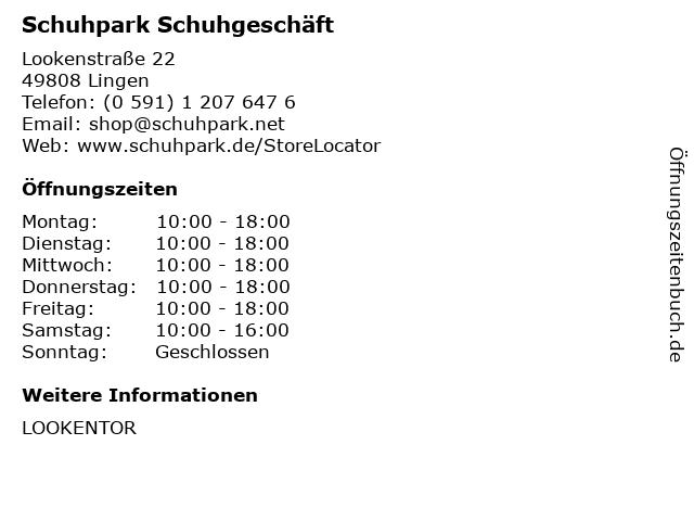 Schuhpark Fascies GmbH in Lingen: Adresse und Öffnungszeiten