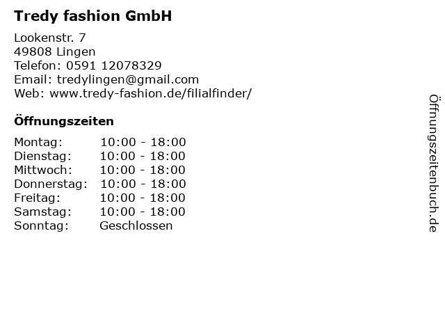TREDY fashion GmbH in Lingen: Adresse und Öffnungszeiten