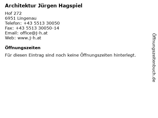 Architektur Jürgen Hagspiel in Lingenau: Adresse und Öffnungszeiten