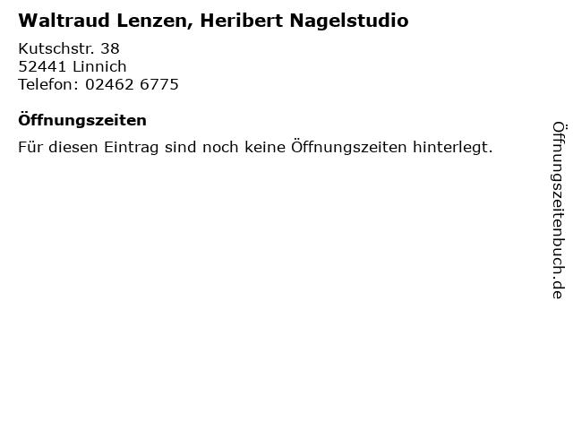 Waltraud Lenzen, Heribert Nagelstudio in Linnich: Adresse und Öffnungszeiten
