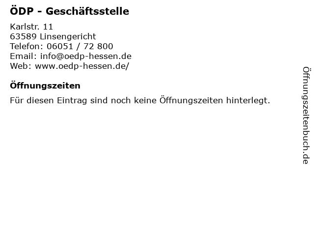 ÖDP - Geschäftsstelle in Linsengericht: Adresse und Öffnungszeiten