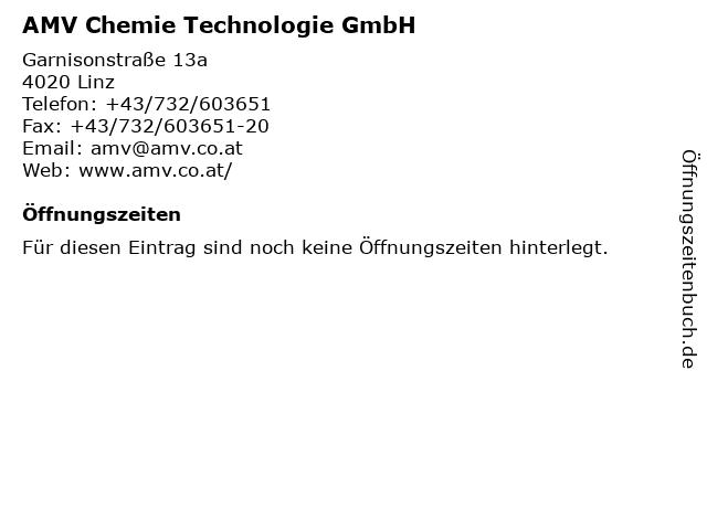 AMV Chemie Technologie GmbH in Linz: Adresse und Öffnungszeiten