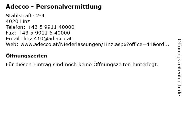 Adecco Linz in Linz: Adresse und Öffnungszeiten
