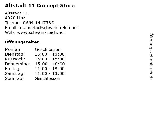 Altstadt 11 Concept Store in Linz: Adresse und Öffnungszeiten