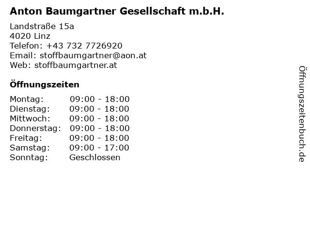 Anton Baumgartner Gesellschaft m.b.H. in Linz: Adresse und Öffnungszeiten
