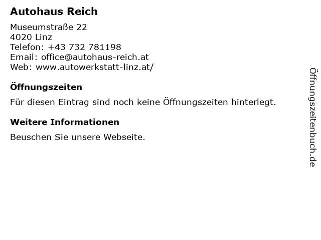 Autohaus Reich in Linz: Adresse und Öffnungszeiten