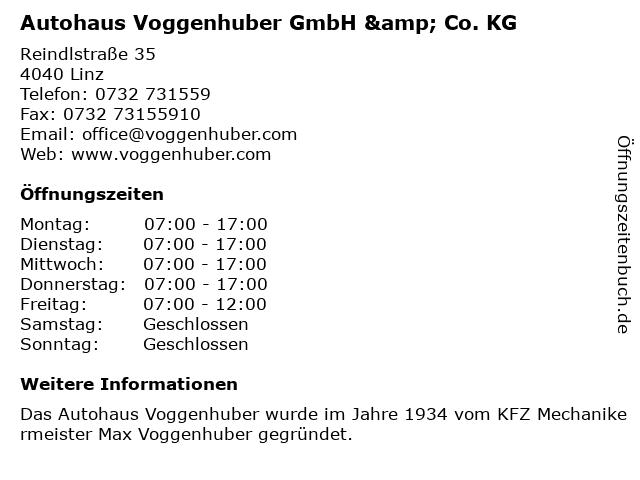 Autohaus Voggenhuber GmbH & Co. KG in Linz: Adresse und Öffnungszeiten