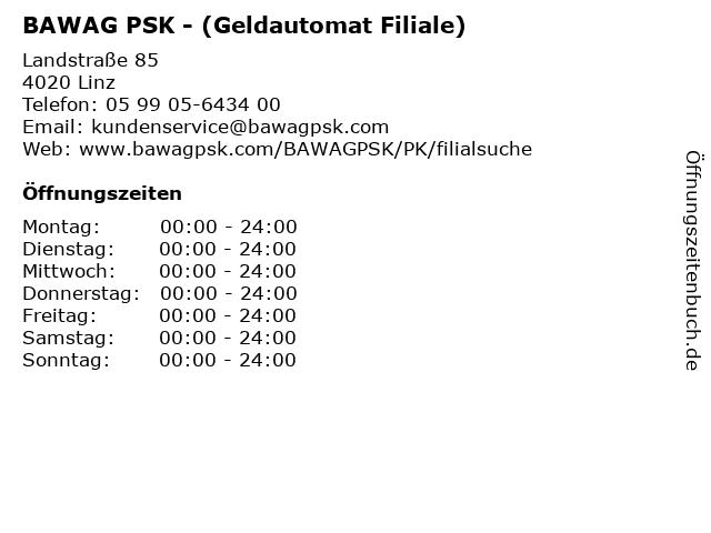 BAWAG PSK - (Geldautomat Filiale) in Linz: Adresse und Öffnungszeiten