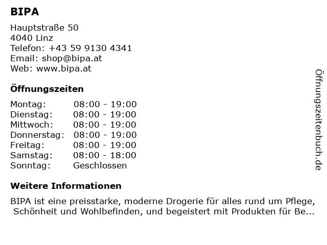 BIPA Parfumerien in Linz Urfahr: Adresse und Öffnungszeiten