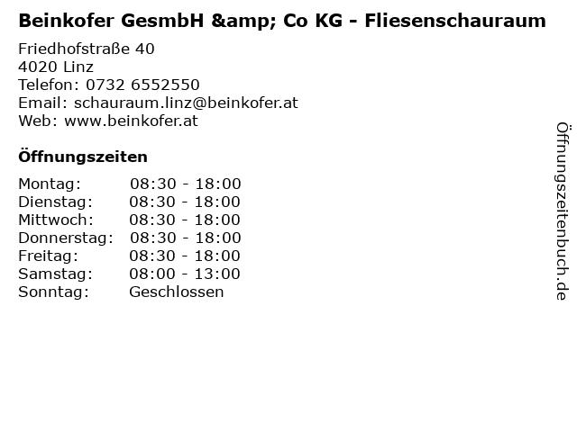 Beinkofer GesmbH & Co KG - Fliesenschauraum in Linz: Adresse und Öffnungszeiten
