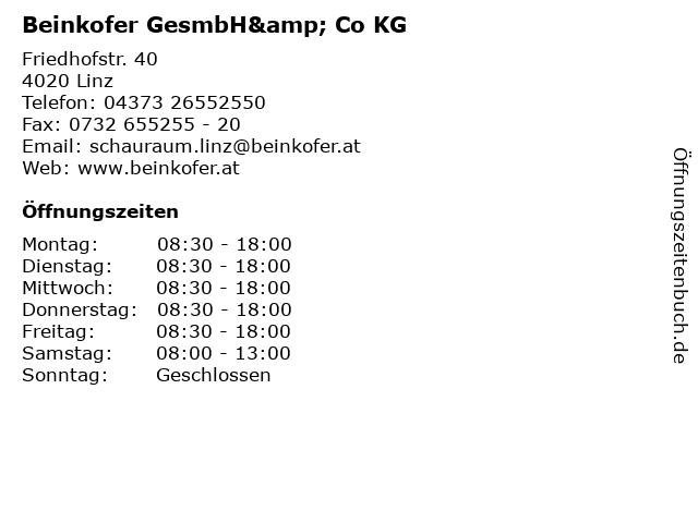 Beinkofer GesmbH& Co KG in Linz: Adresse und Öffnungszeiten