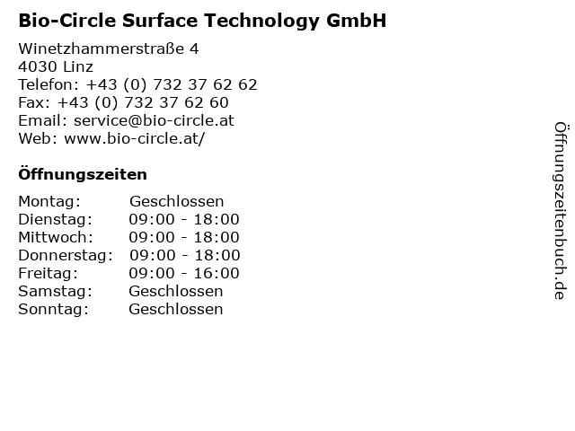 Bio-Circle Surface Technology GmbH in Linz: Adresse und Öffnungszeiten