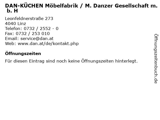 DAN-KÜCHEN Möbelfabrik / M. Danzer Gesellschaft m. b. H in Linz: Adresse und Öffnungszeiten