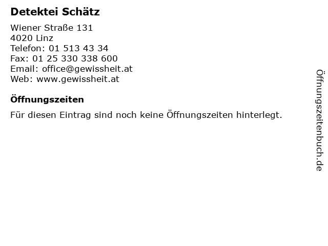 Detektei Schätz in Linz: Adresse und Öffnungszeiten