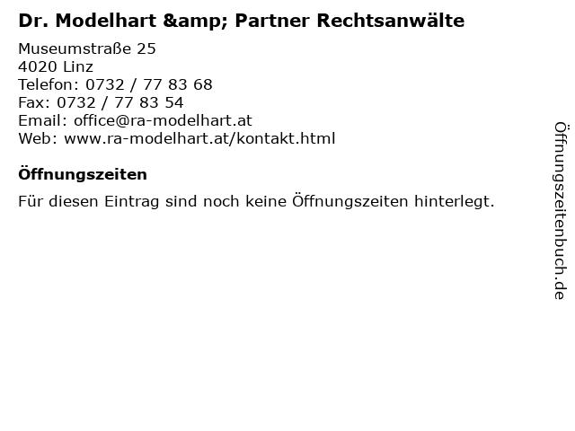 Dr. Modelhart & Partner Rechtsanwälte in Linz: Adresse und Öffnungszeiten