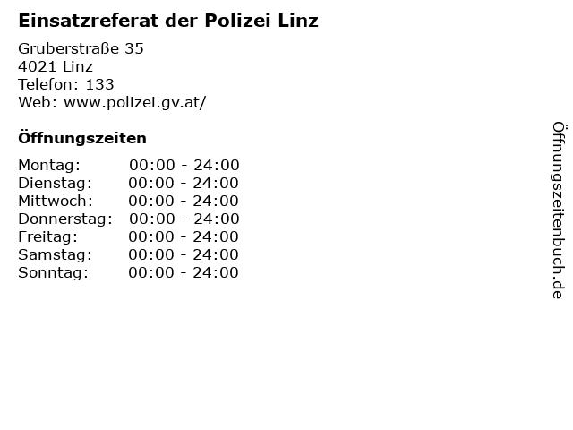 Einsatzreferat der Polizei Linz in Linz: Adresse und Öffnungszeiten