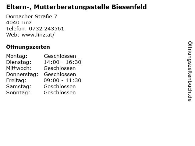 ᐅ öffnungszeiten Eltern Mutterberatungsstelle Biesenfeld