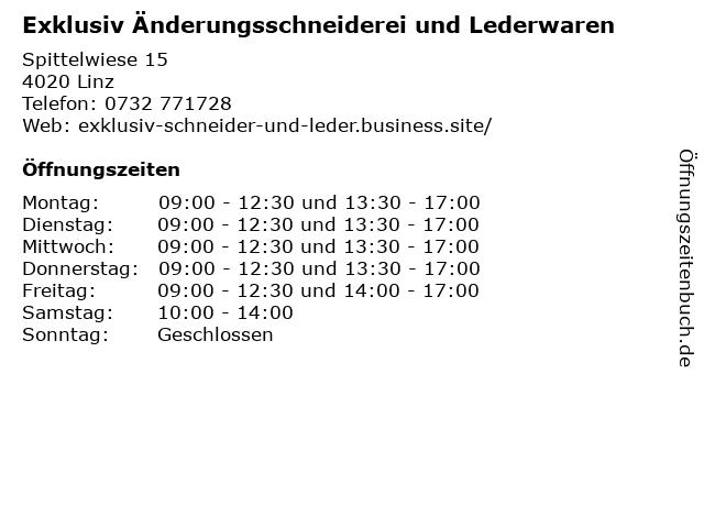 Exklusiv Änderungsschneiderei und Lederwaren in Linz: Adresse und Öffnungszeiten