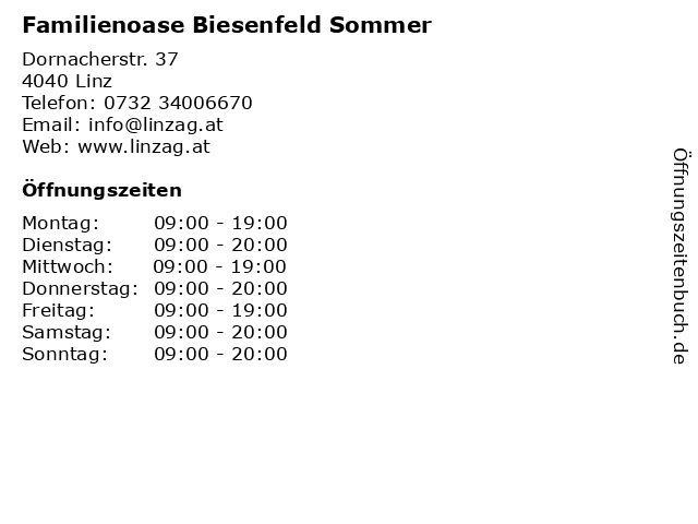 ᐅ öffnungszeiten Familienoase Biesenfeld Sommer Dornacherstr