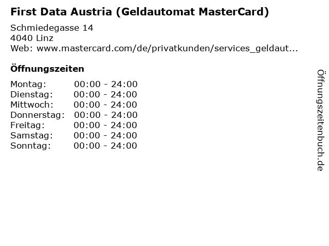 First Data Austria (Geldautomat MasterCard) in Linz: Adresse und Öffnungszeiten