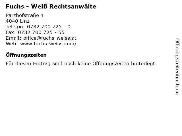 Fuchs - Weiß Rechtsanwälte in Linz: Adresse und Öffnungszeiten
