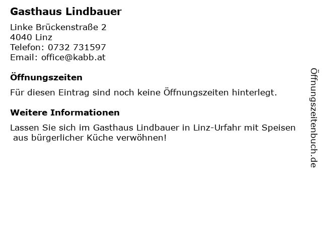 Gasthaus Lindbauer in Linz: Adresse und Öffnungszeiten