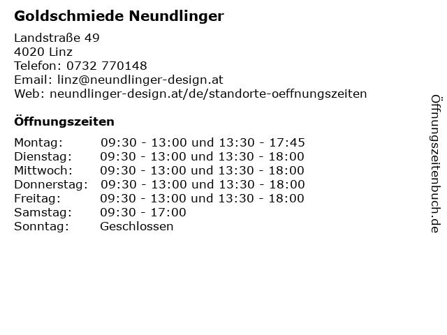 Goldschmiede Neundlinger in Linz: Adresse und Öffnungszeiten